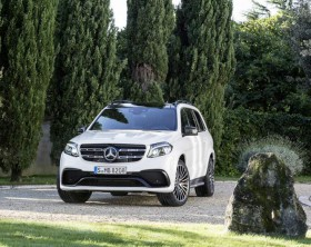 Mercedes-AMG GLS 63 4MATIC, Exterieur: designo diamantweiß bright exterior: designo diamond white bright