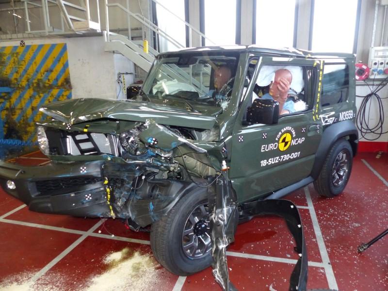 foto crashtest Suzuki Jimny