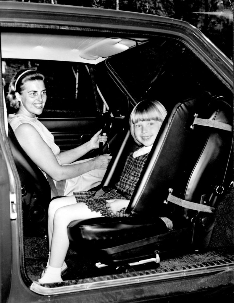 Volvos first child seat