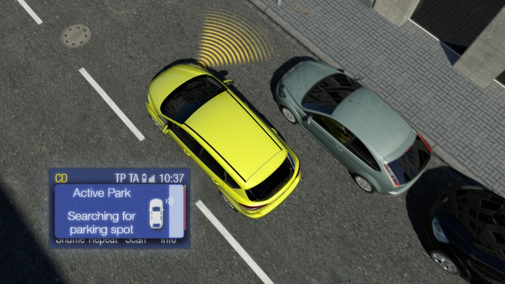 ukázka parkování